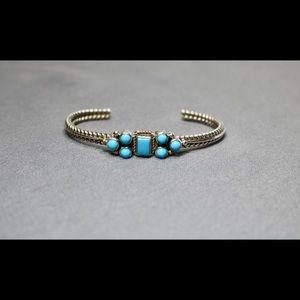 Vintage 925 Native American turquoise bracelet